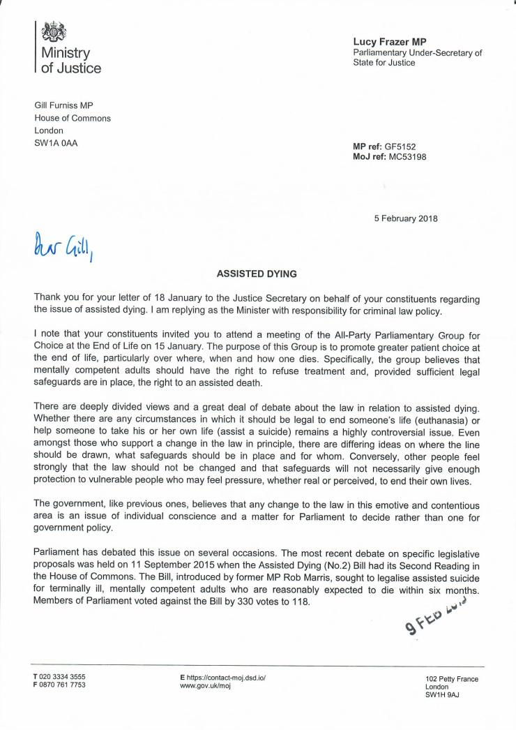 Assisted Dying Response 1